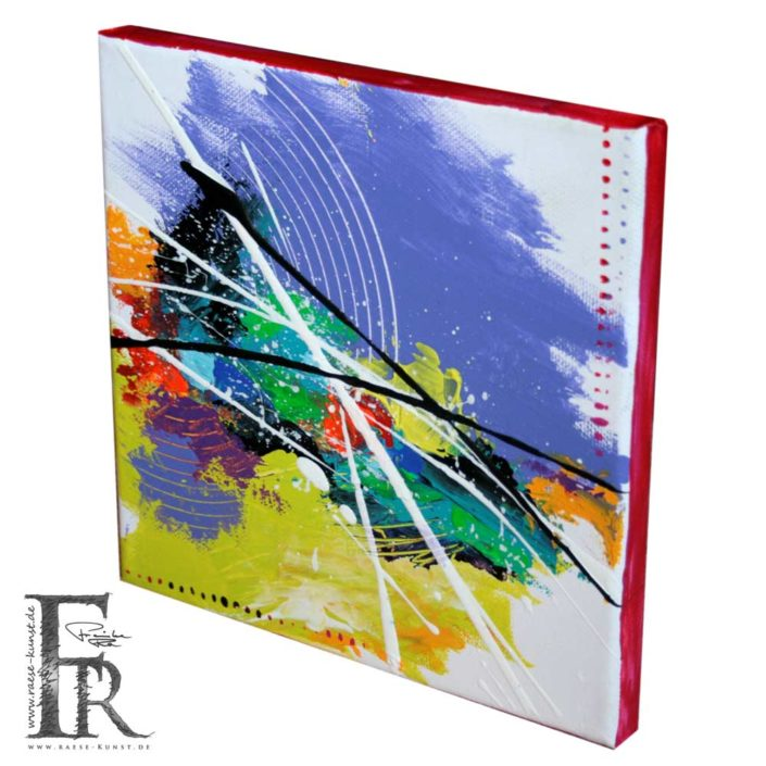 Franziska Raese Abstrakt Lila Action Painting 1001