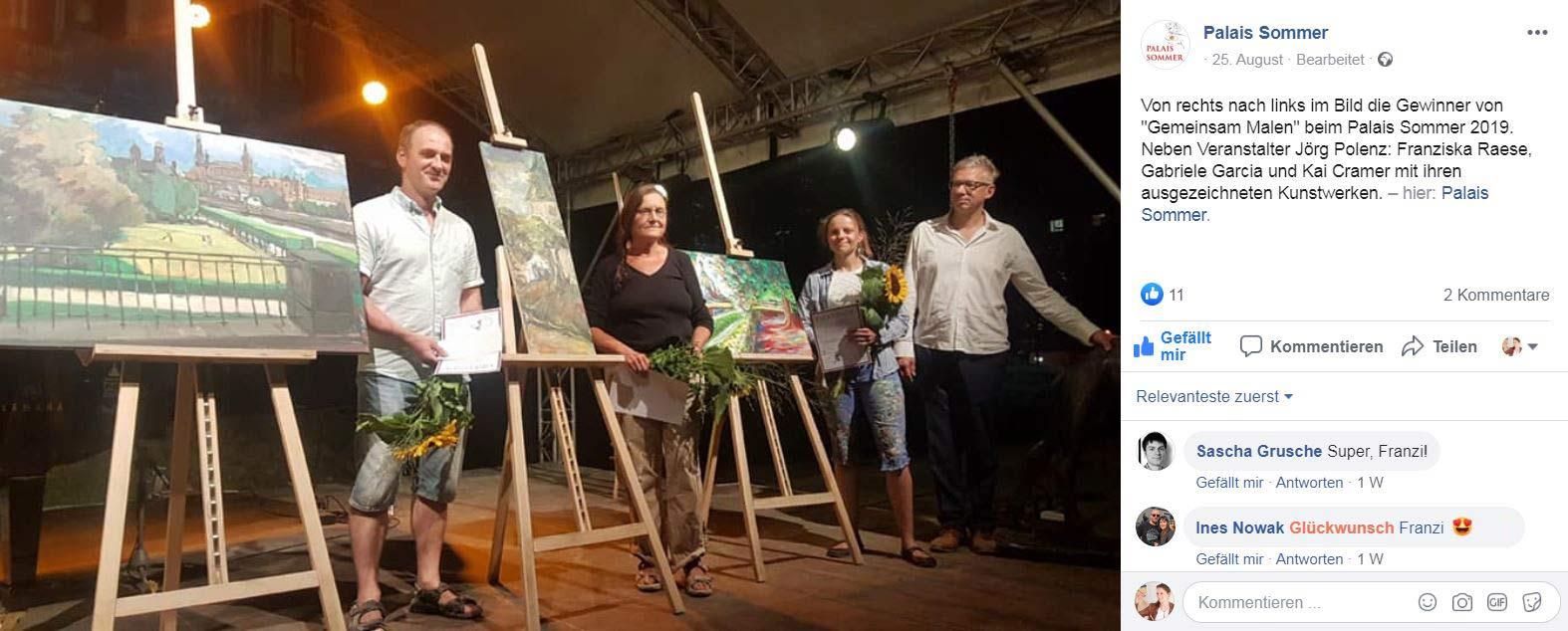 Canaletto Preis - Gemeinsam Malen - Preisverleihung